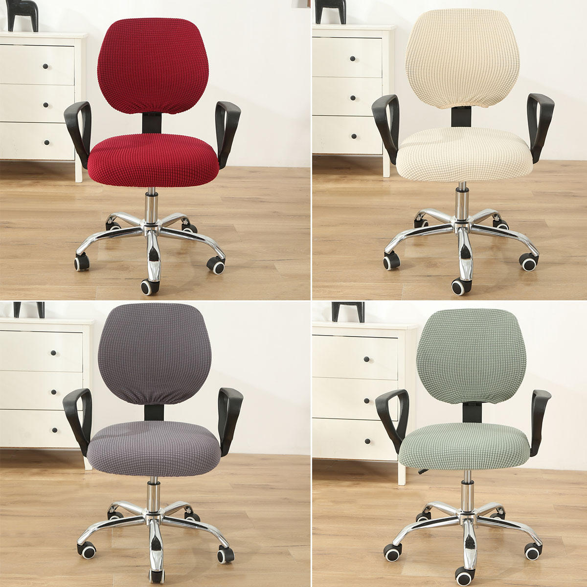 Swivel Computer Stretch Chair Covers