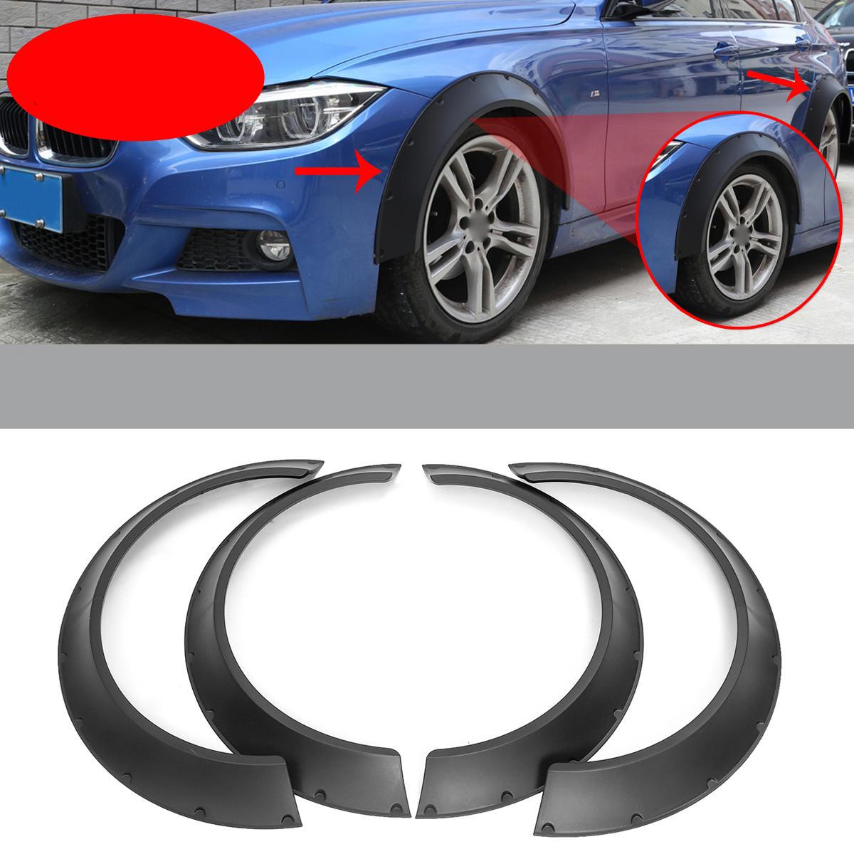 Car Body Kits >> Universal Car Fender Flares 4 Piece Flexible Durable Polyurethane Body Kits Extra Wide Body Wheel Arches