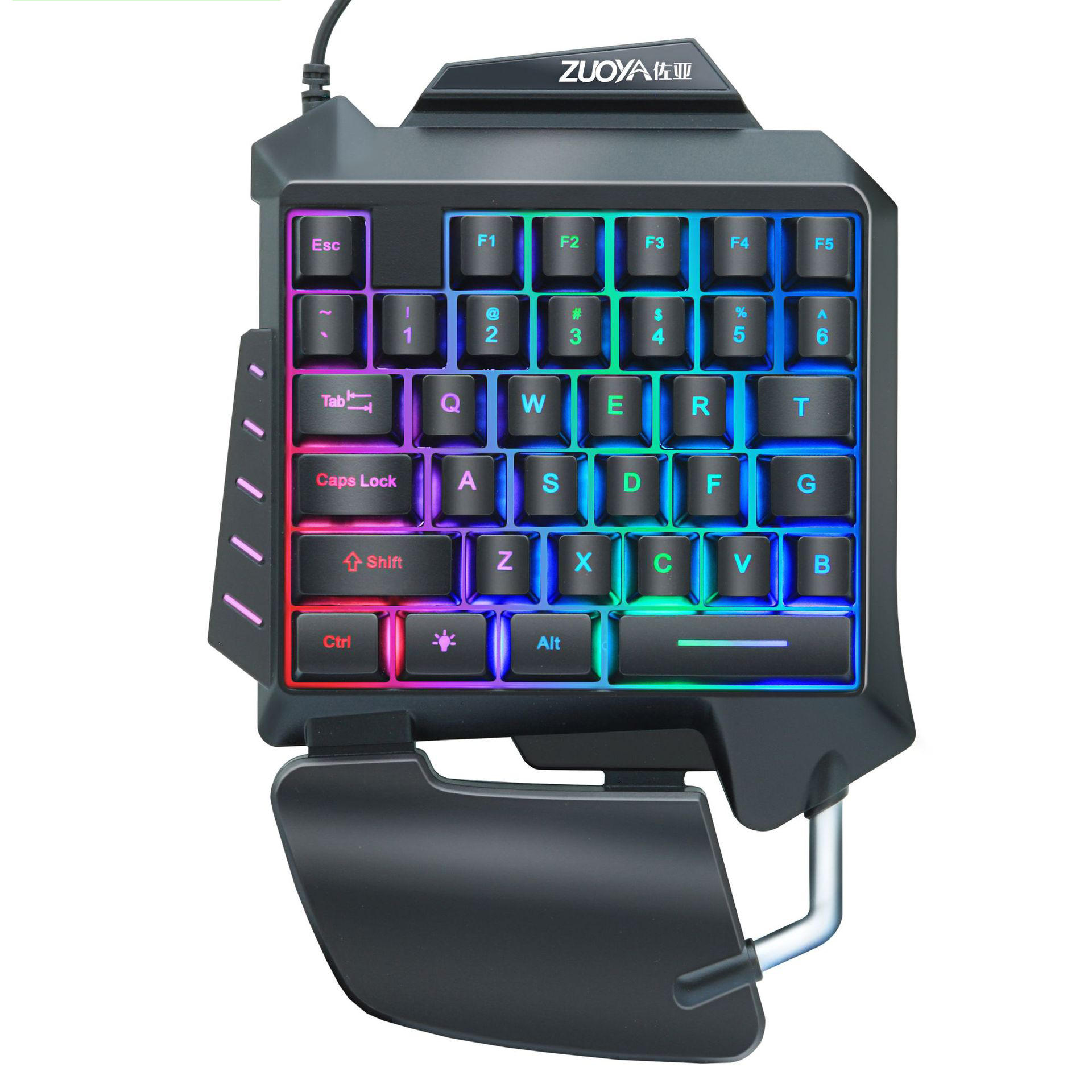 ZUOYA G92 Wired Single Handed RGB Gaming Membrane Keyboard 35 Keys One Hand Ergonomic Game Keypad for PC Laptop Pro PUBG Gamer
