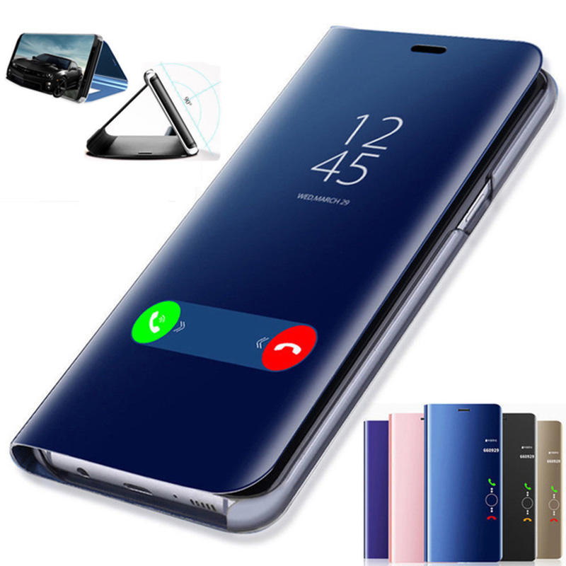 Bakeey™ Plating Mirror Window Shockproof Flip Full Cover Protective Case for Xiaomi Mi Note 3