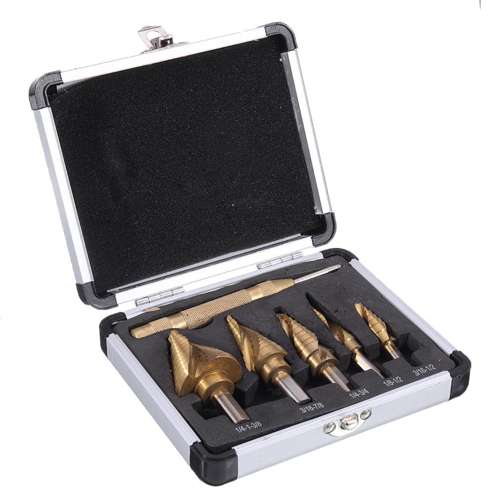 8pcs M7 Drill Hog USA Step Drill Bit HI-Molybdenum Step Drill Bit Set - 3