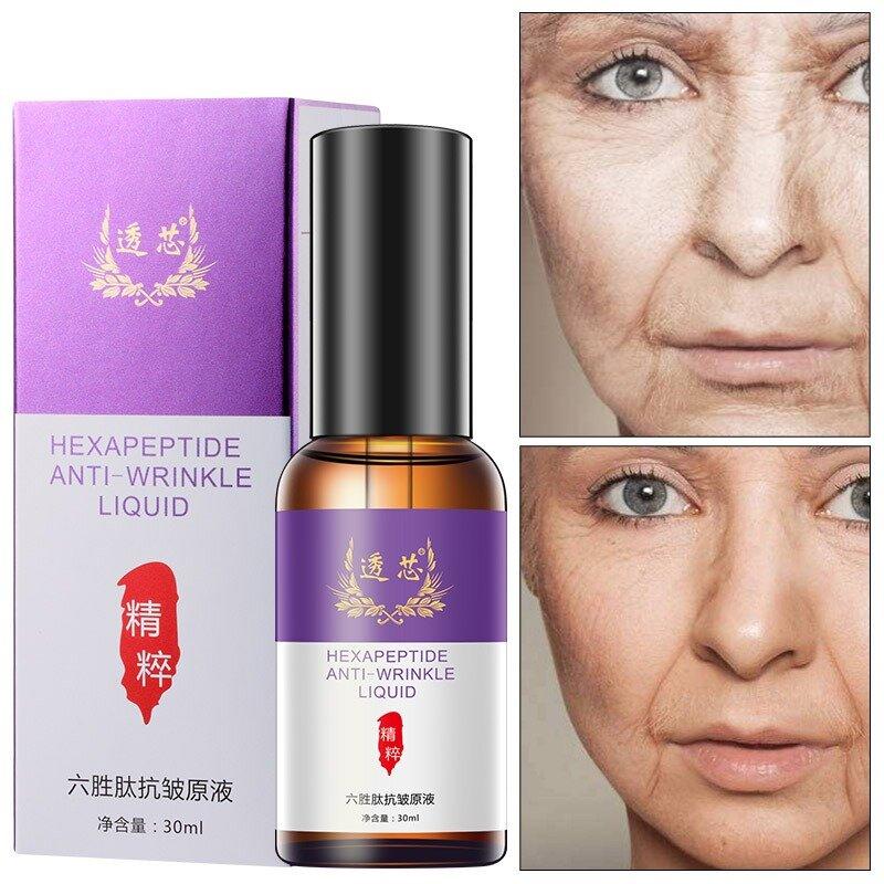 30ml Anti-Wrinkle Essence Six Peptide Essence Moisturizing Tighten Skin Shrink Pores Face Care
