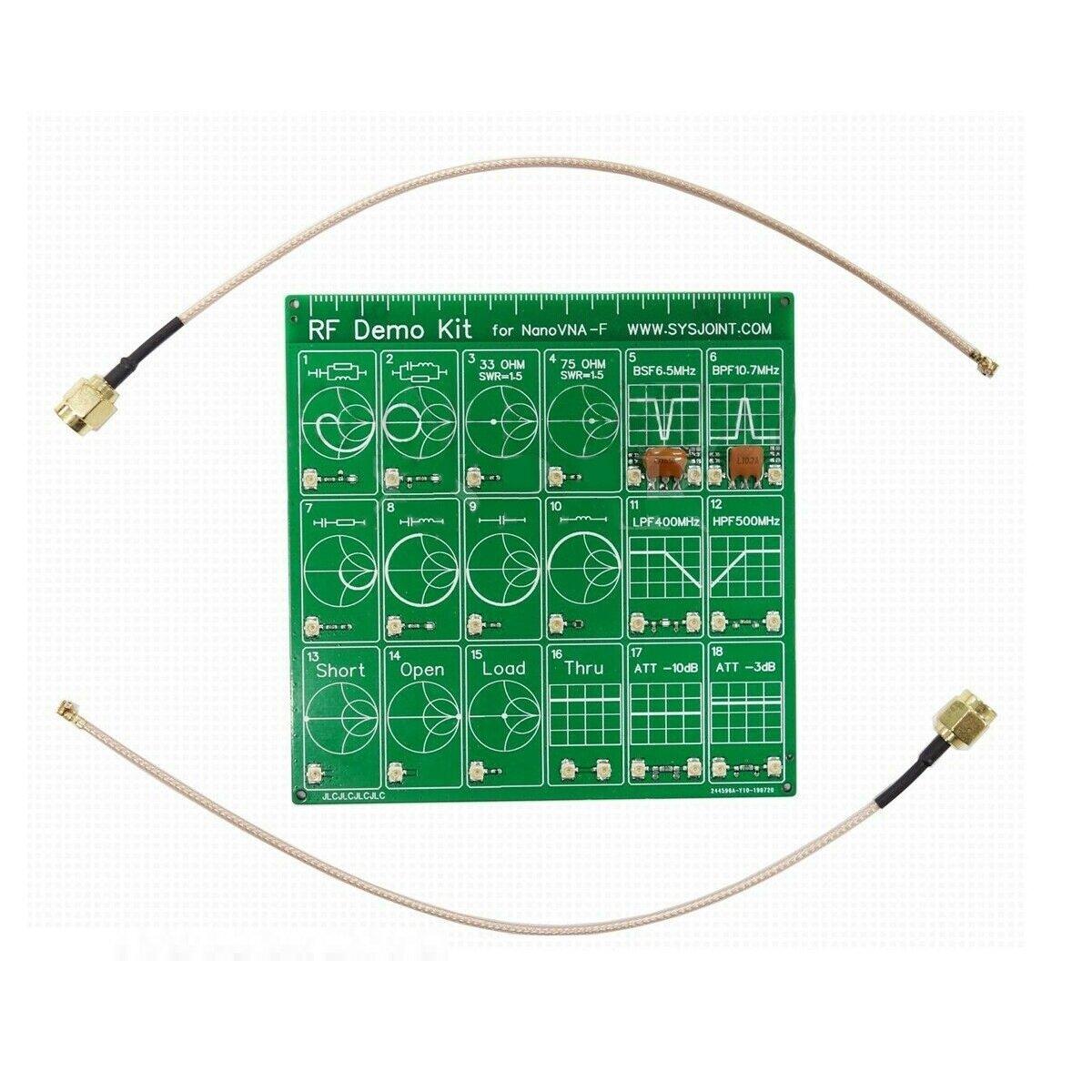 RF Demo Kit NanoVNA RF Tester Board Filter Attenuator for NanoVNA-F Vector Network Anaylzer