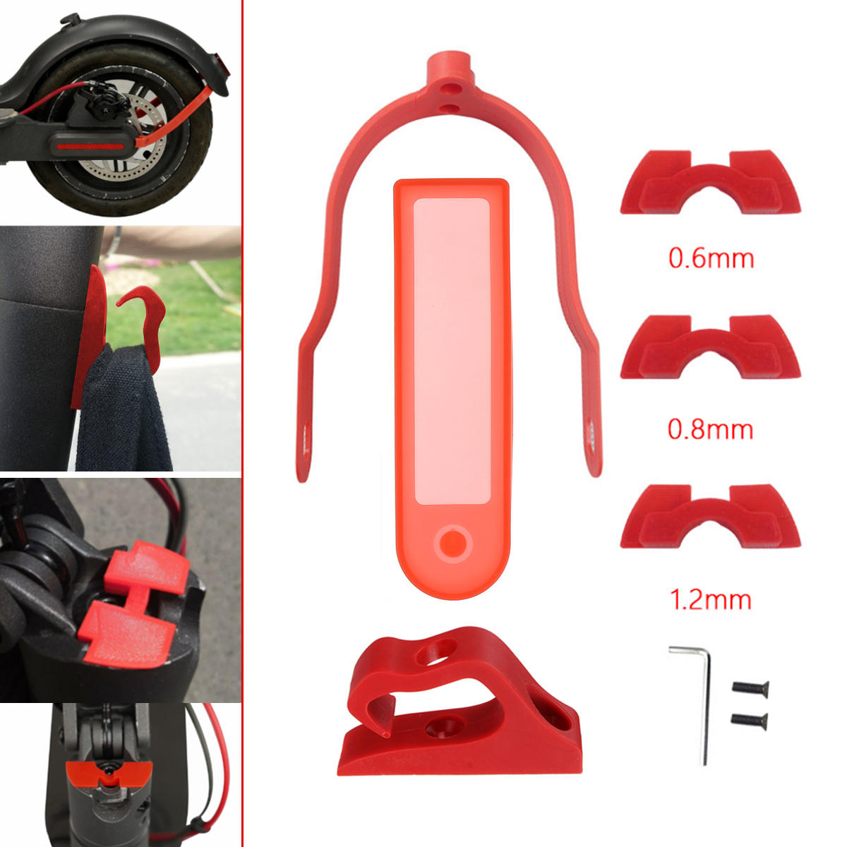 Red Must have kit for Xiaomi Mijia M365 and M187 Scooter