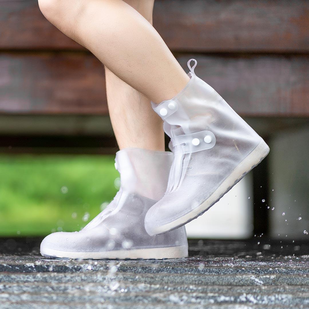 Zenph 1 Pair Portable Rain Shoe Covers Waterproof Reusable Transparent Boots Protector Men Women Outdoor Travel from