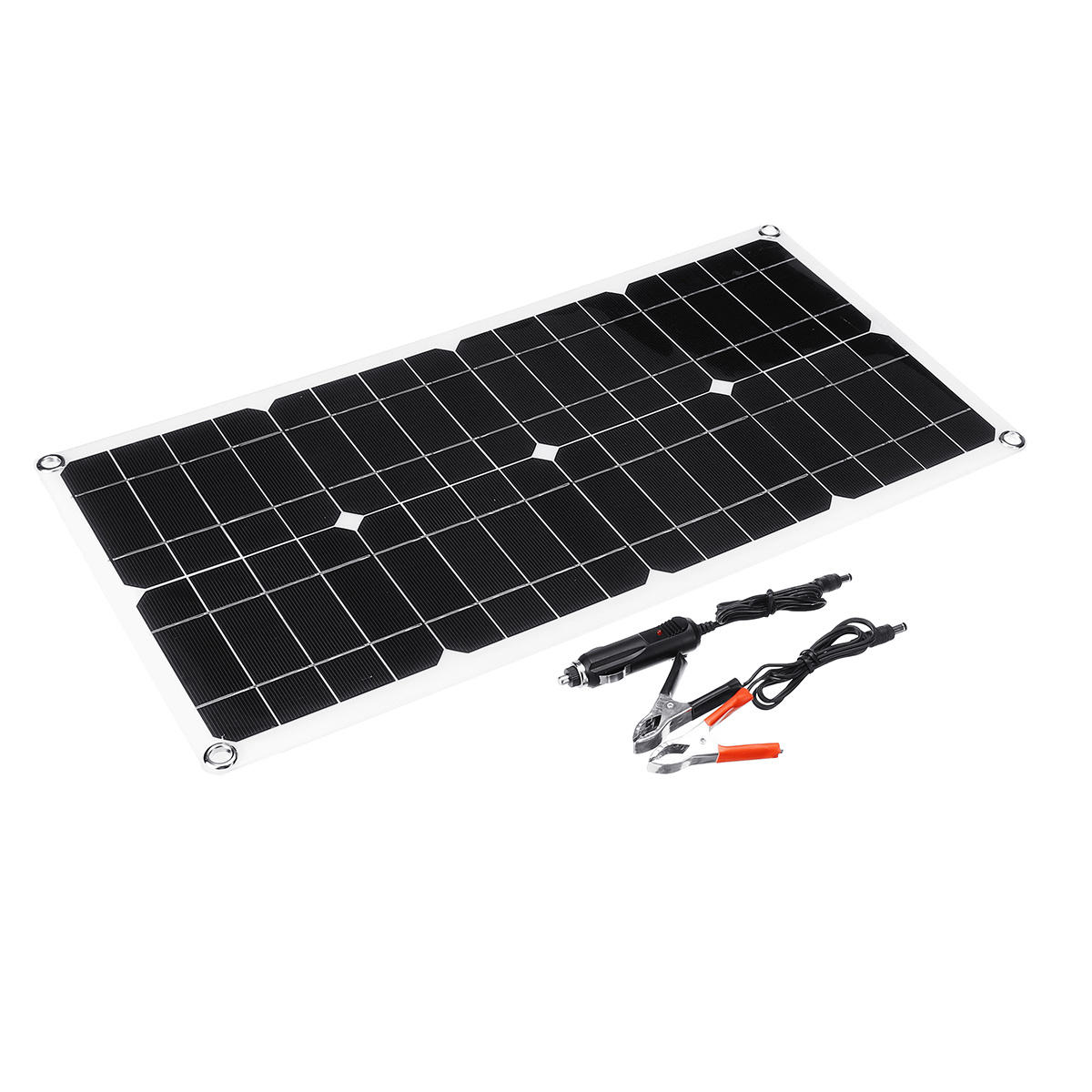 Solar Power Panel Generator Kit 5V USB Charger Home System with 3 LED Bulbs Light - 1