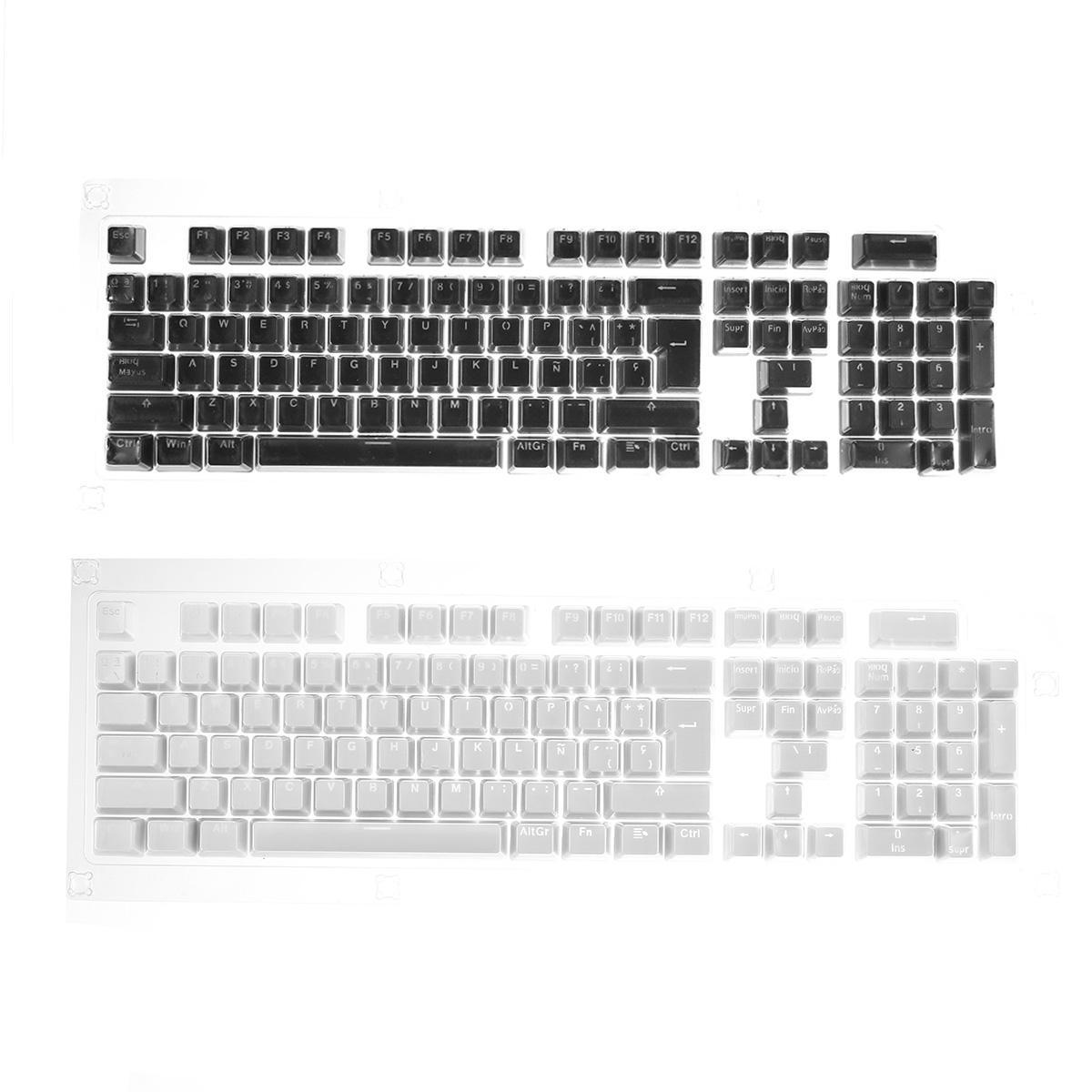 106 Key Light Translucent ABS Keycaps Russian Keycap untuk Anne Pro 2 Keyboard Mekanik
