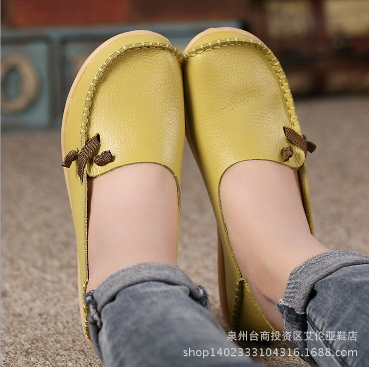 Women Casual Solid Color Round Toe Lace Up Loafers - 5