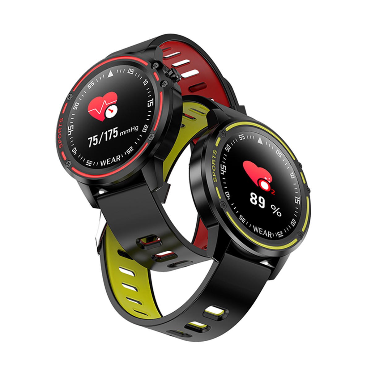 Bakeey L8 Full Touch Screen ECG+PPG O2 IP68 Sports Mode bluetooth Music Control Weather Smart Watch