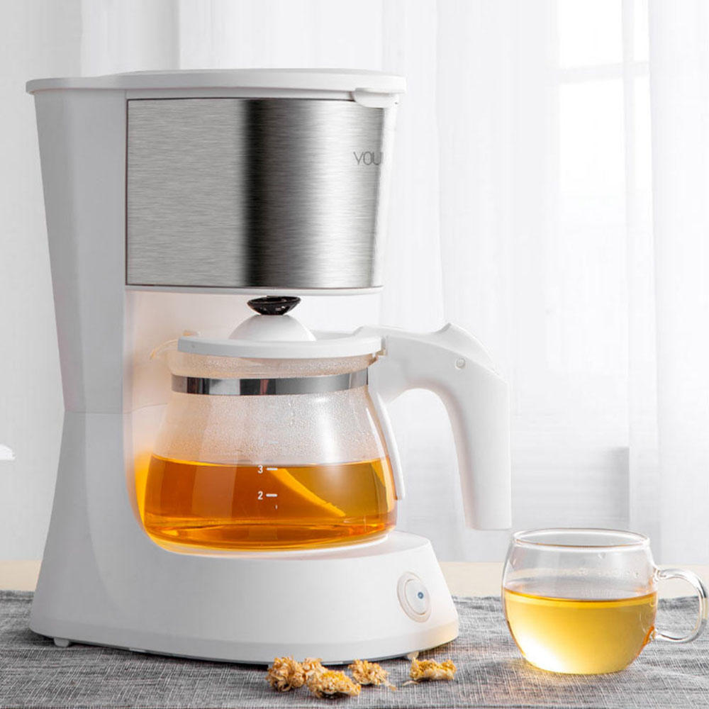YOULG Coffee Machine Espresso Maker with 652ml Glass kettle coffee Powder filter Anti-drip insulation Teapot From Xiaomi Youpin