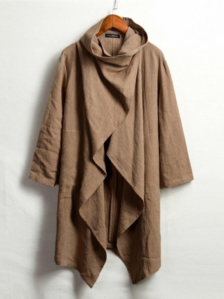 Banggood Designed Mens Corduroy Patchwork Loose Pocket Elastic Waist Breathable Shirt & Shorts - 1