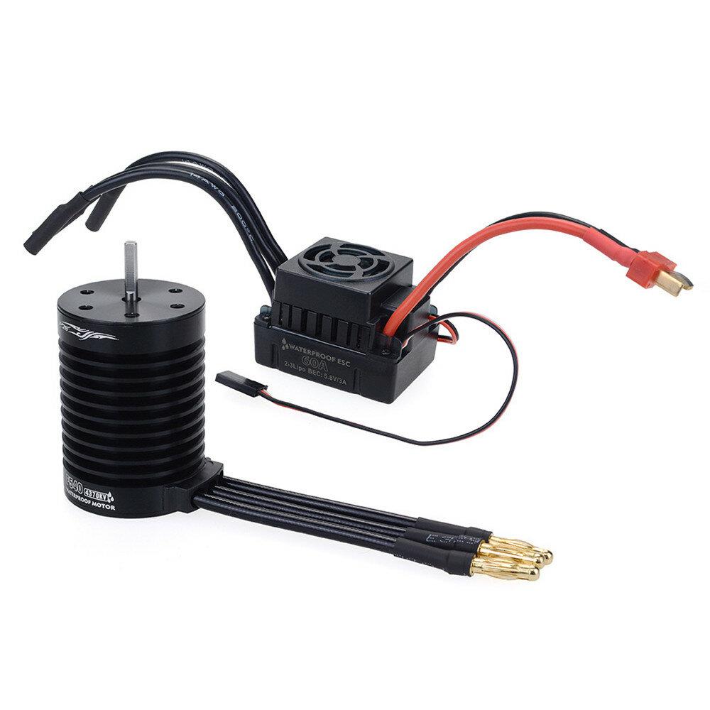Hobbywing EzRun Max8 v3 150A Waterproof Brushless ESC T/TRX Plug+2200KV Motor For 1/8 RC Car Parts - 2