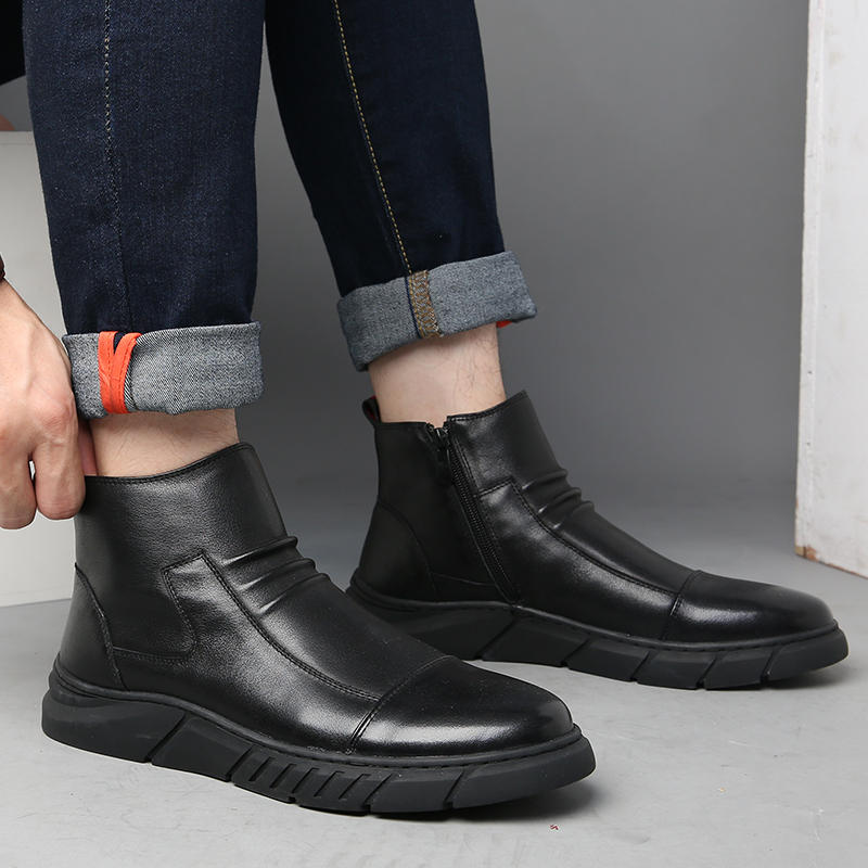Menico Men Big Size Comfortable Stitching Ankle Boots - 8