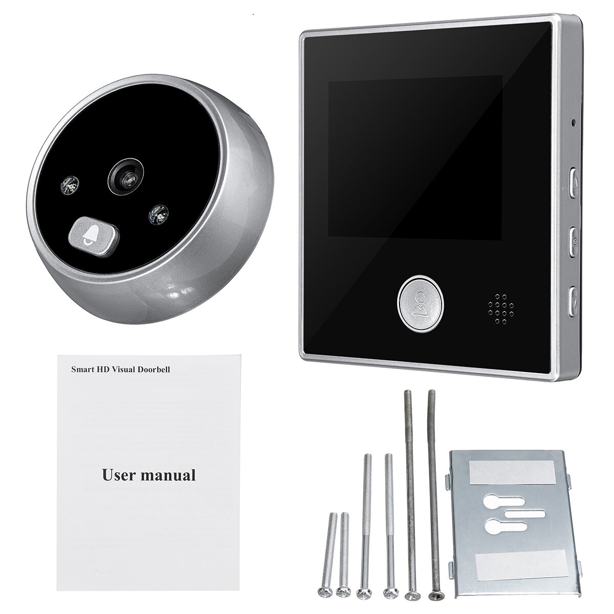 ENNIO 9 inch 2 Monitors Wifi Wireless Fingerprint RFID Video Door Phone Doorbell Intercom System with Wired AHD 1080P Door Access Control System,Support Remote APP Unlocking,Recording - 1