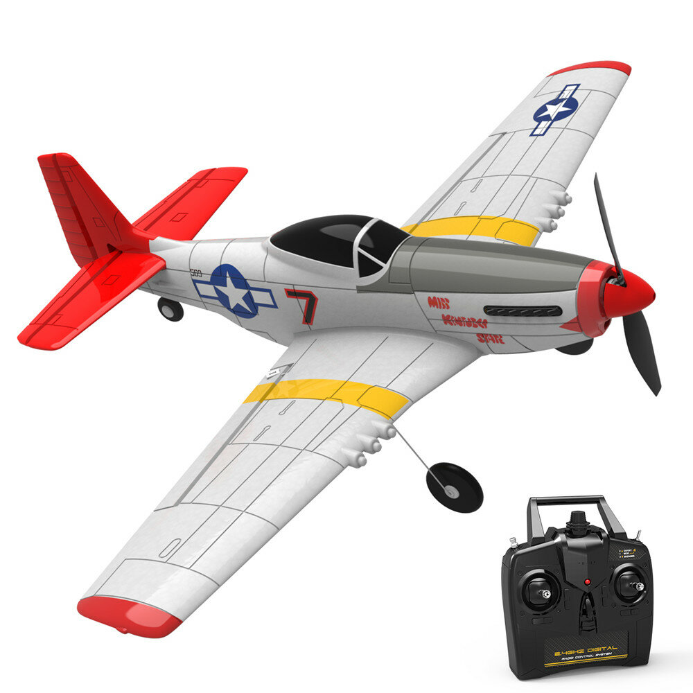 Eachine Mini Mustang P-51D EPP 400mm Wingspan 2.4G 6-Axis Gyro RC Airplane Trainer Fixed Wing RTF One Key Return for Beg фото