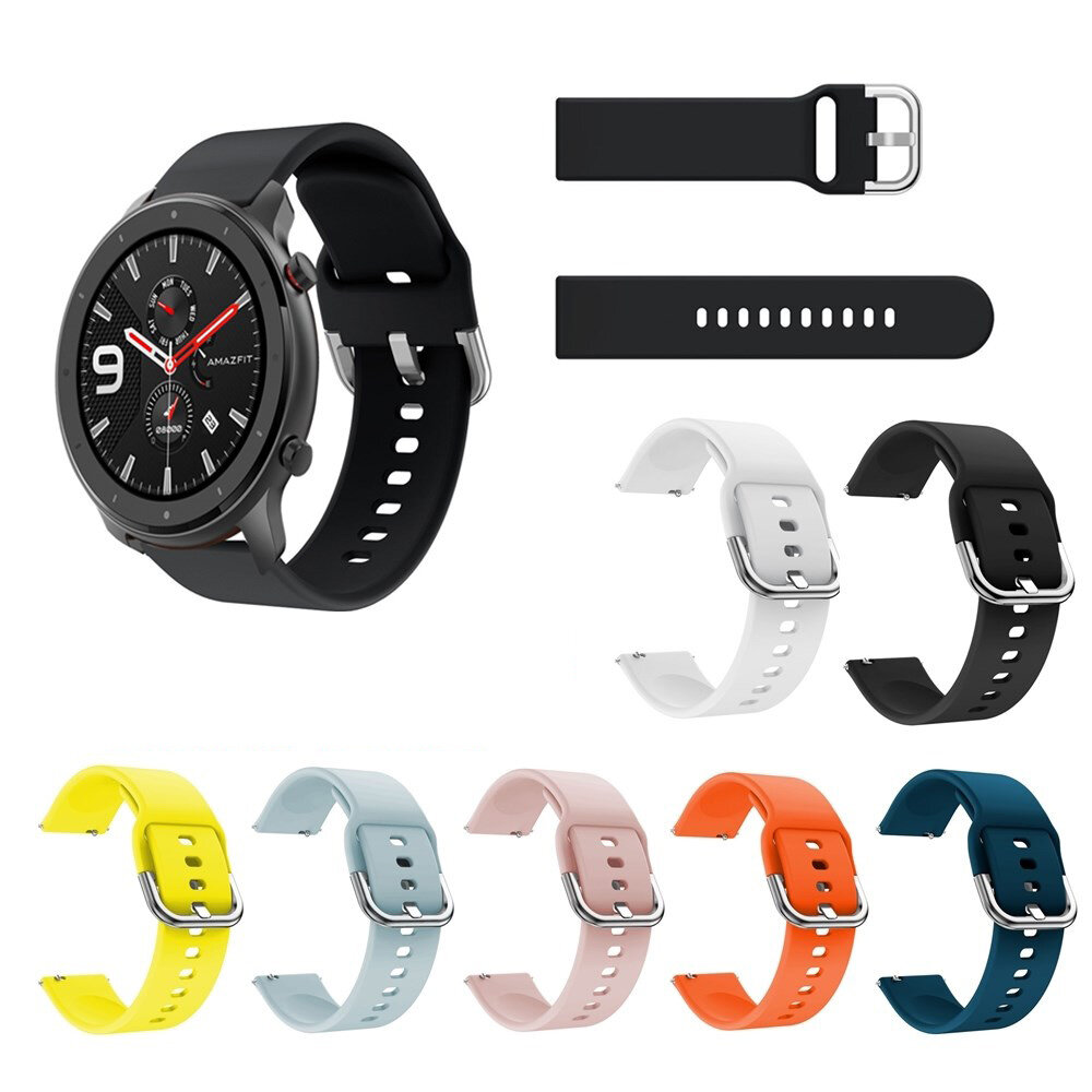 Pure Color Watch Band Watch Strap Replacement for 47mm Amazfit GTR Smart Watch