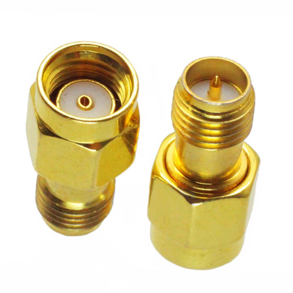 10pcs RP-SMA Male to RP-SMA Female Adapter RF Connector RP-SMA-JK for FPV RC Drone