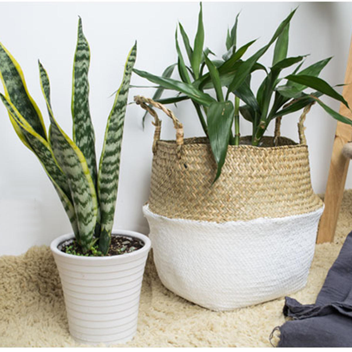Retro Flower Stand Chic Indoor Garden Metal Plant Holder Display Planter Vase - 5