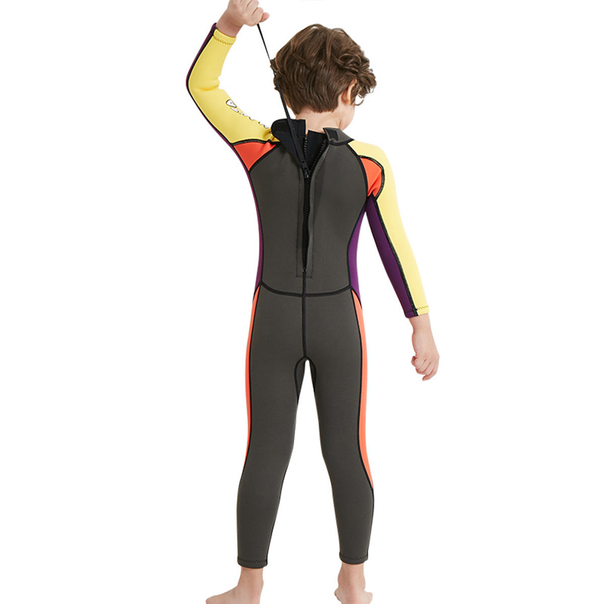 Kids Boy Scuba One-piece Diving Suit UV Protection Thermal Snorkeling Wetsuit Surfing Swimwear - 11