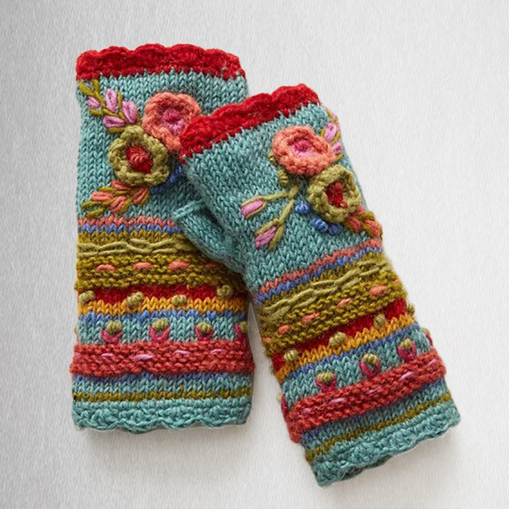 Casual Knit Gloves Handwarmers...