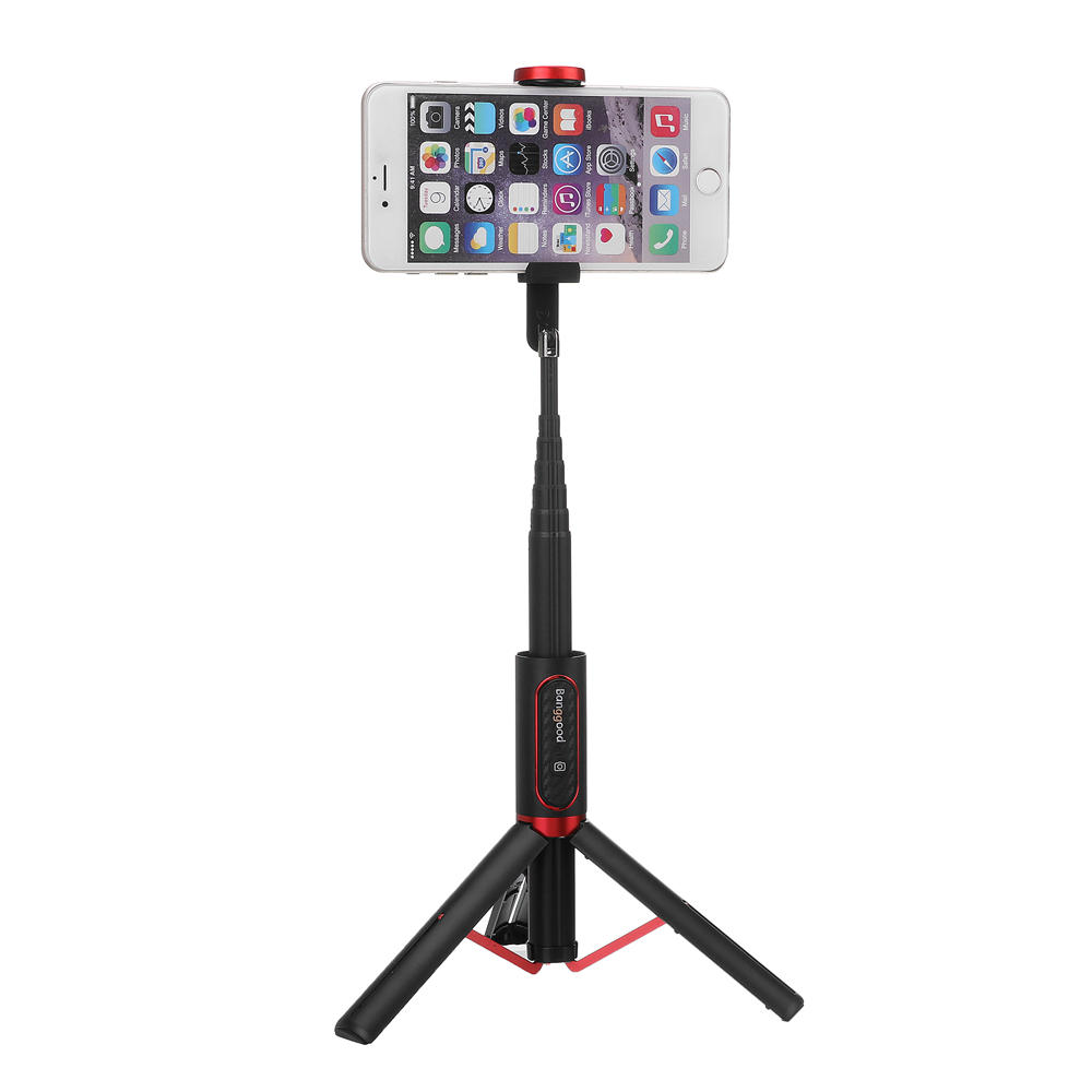 Banggood BW-BS10 Portable bluetooth Selfie Stick Hidden Phone Clamp with Retractable Tripod