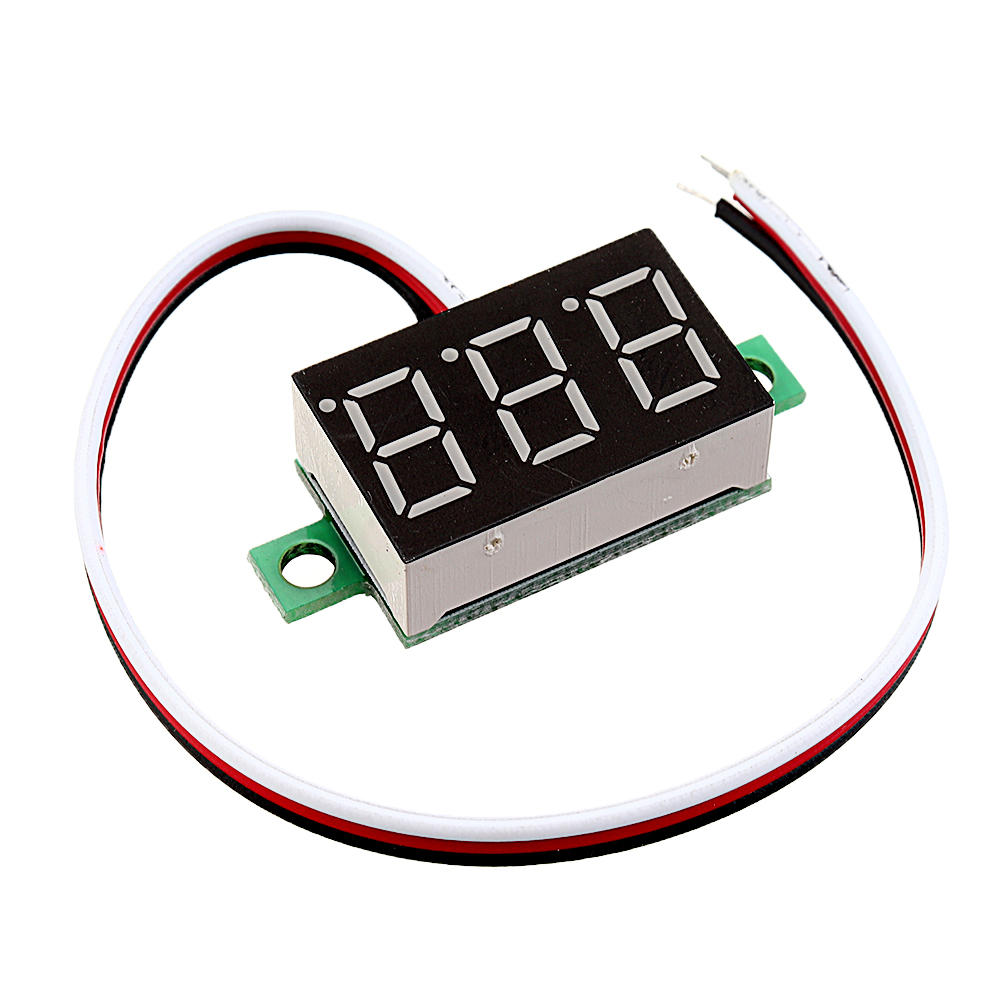Arduino 3pcs 0.36 Inch DC0V-32V Green LED Digital Display Voltage Meter Voltmeter Reverse Connection Protection фото