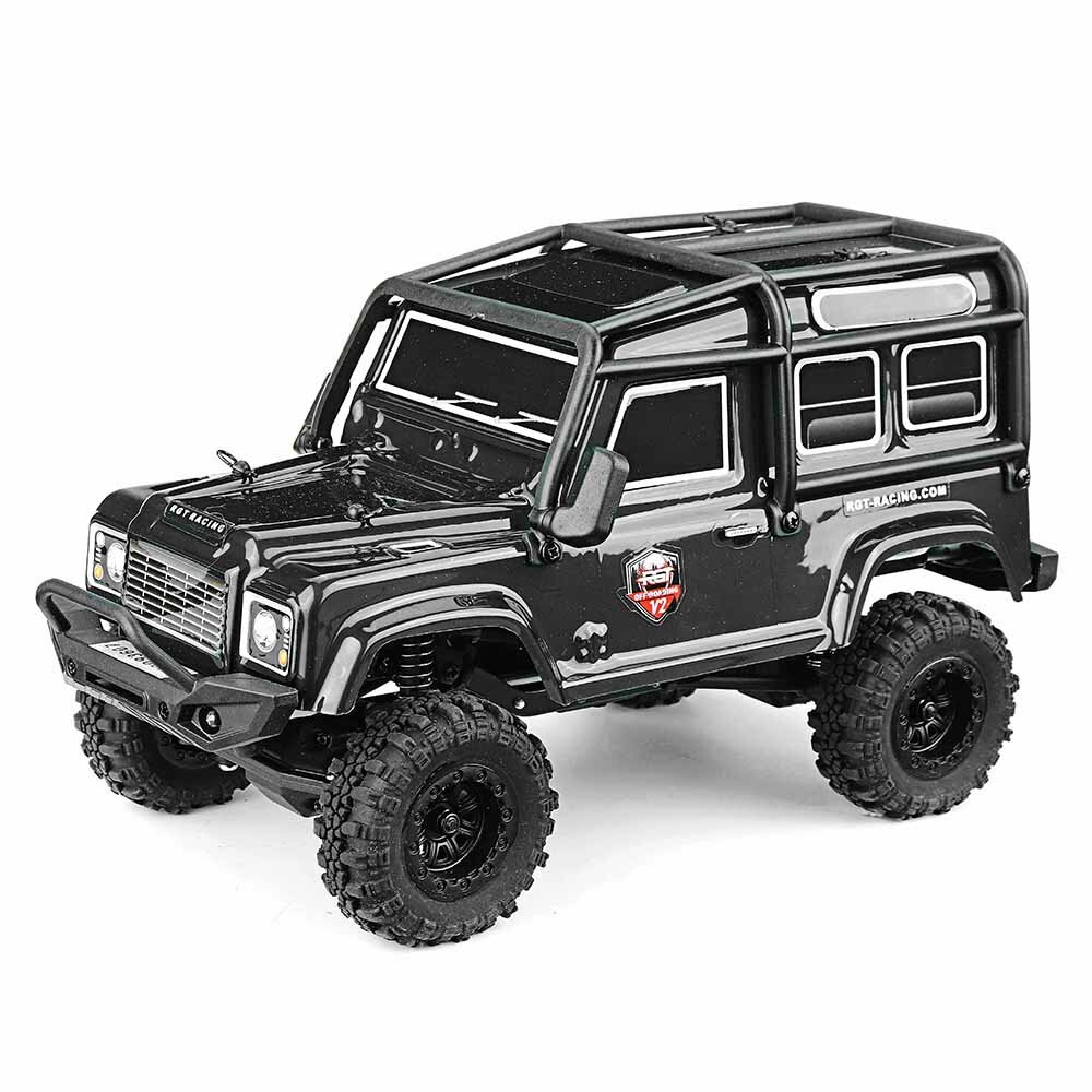 Eachine EAT04 1/12 2.4G 4WD Brush Rc Car Metal Body Shell Desert Off-road Truck RTR Toy Black - 1