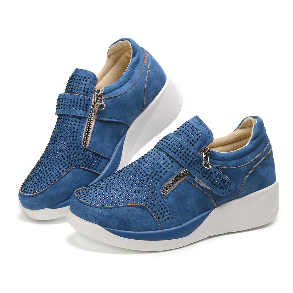 Large Size Women Mesh Outdoor Slip On Sneakers - 1