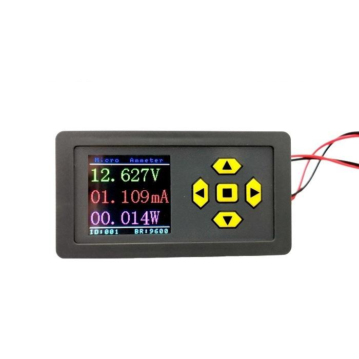 Micro-ampere DC Voltmeter Ammeter High-precision Color Screen Digital Display Support RS485 MODBUS Communication фото