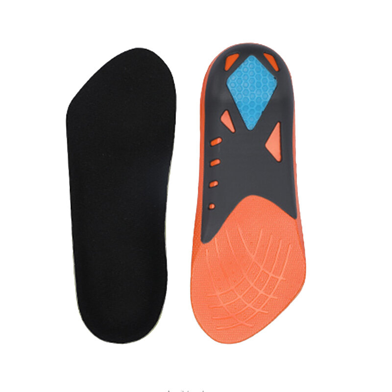 1 Pair Senthmetic Arch Support Sports Insoles Shock Absorption Cropped Insoles TPU+PU+GEL Comfortable Sneakers Insoles From Xiaomi Youpin