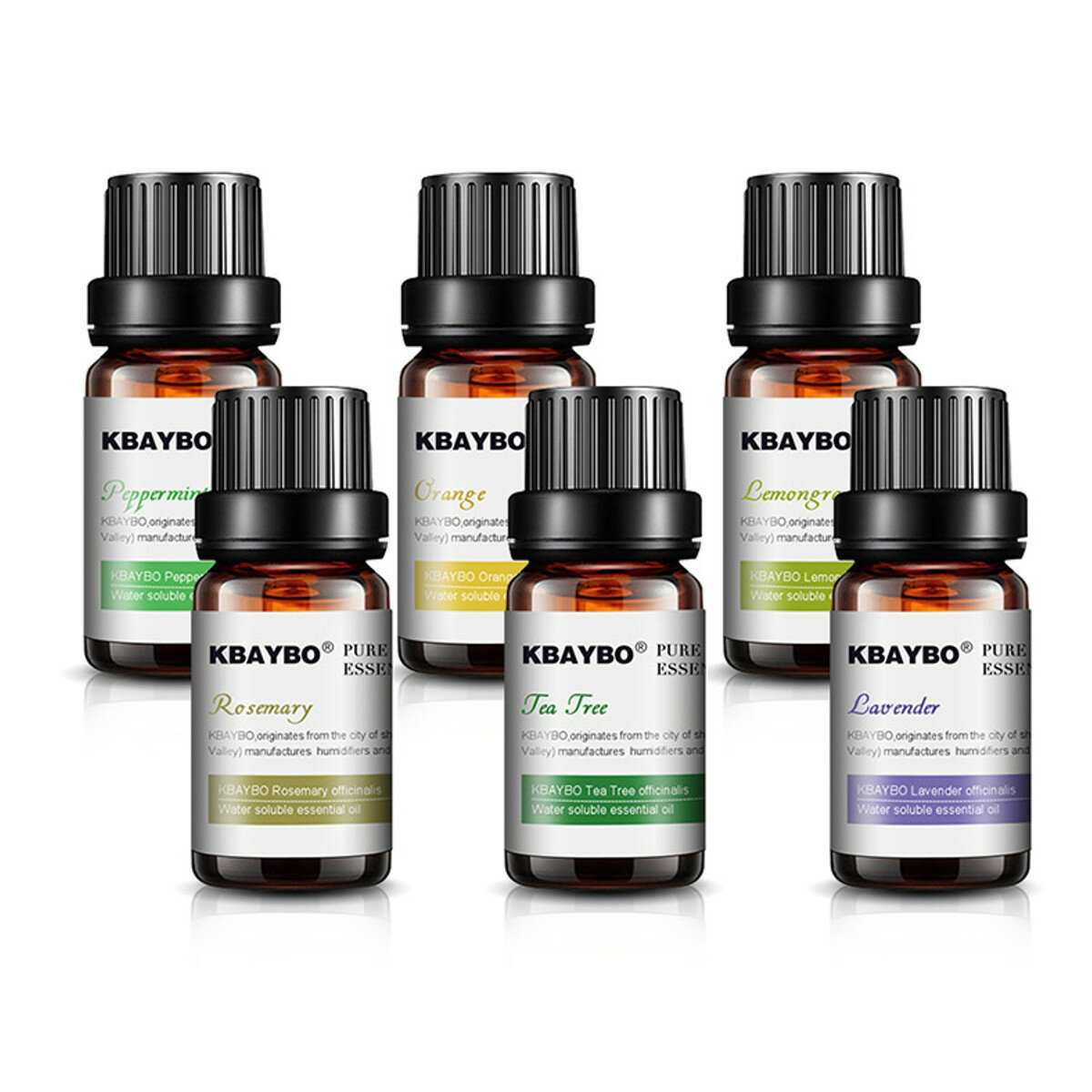 3pcs/6pcs 10ml Pure Natural Plant Extracts Essential Oils Set For Aromatherapy Diffusers Humidifier Air Lavender Tea Tree Lemongrass Rosemary Essential Oil