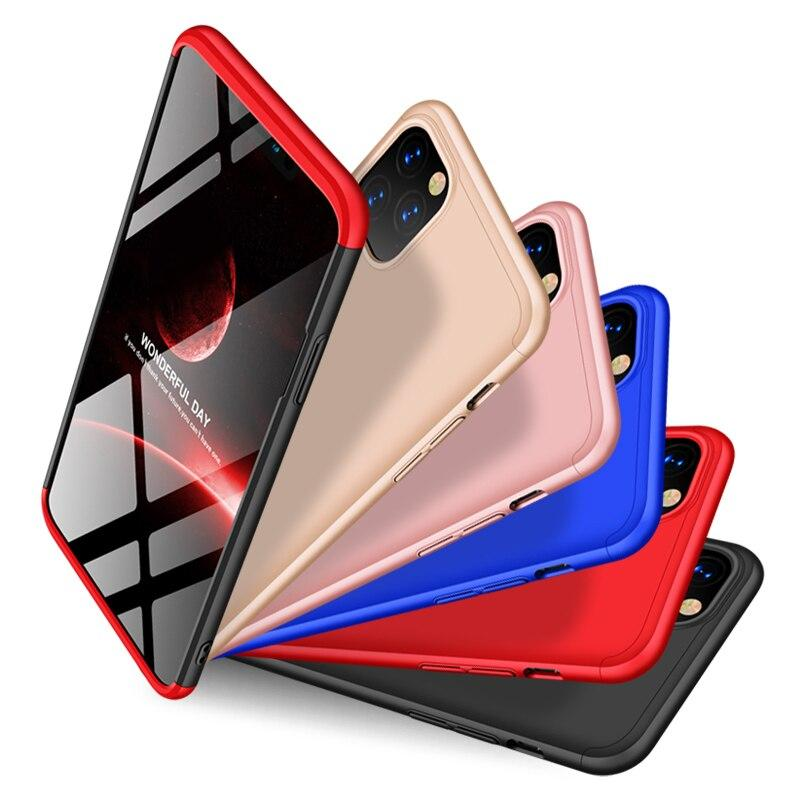 Bakeey 3 in 1 Double Dip Frosted 360 ° full body PC full beskyttelsesetui for iPhone 11 Pro Max 6,5 tommer