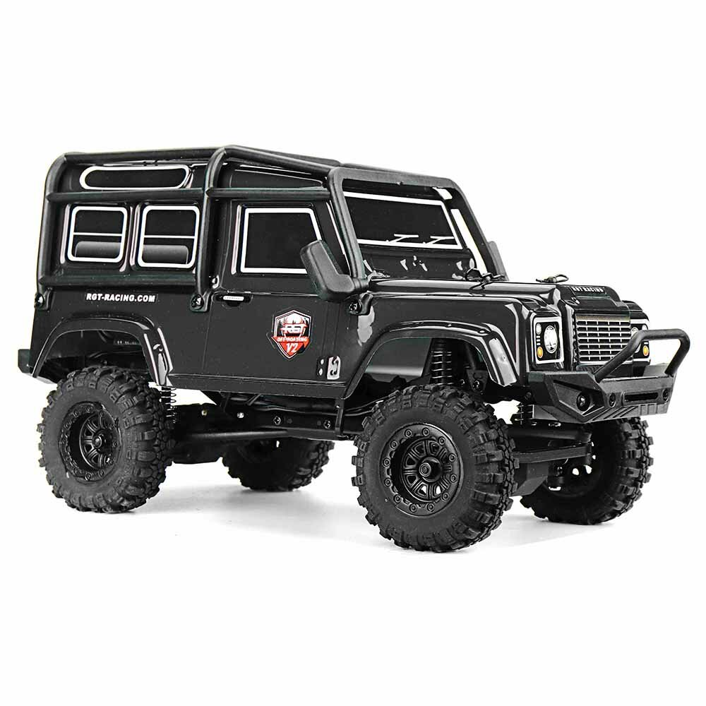 Eachine EAT04 1/12 2.4G 4WD Brush Rc Car Metal Body Shell Desert Off-road Truck RTR Toy Black - 2