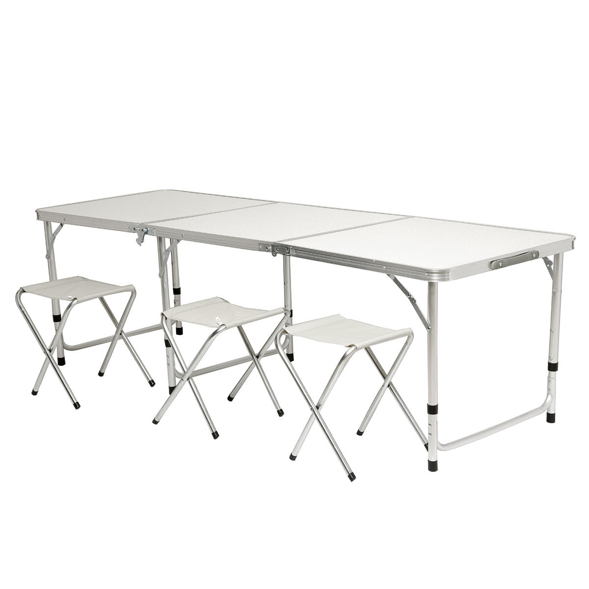 Portable Folding Table Laptop Desk Study Table Aluminum Camping Table with Carrying Handle and  Adjustable Legs Table for Picnic Beach Outdoors