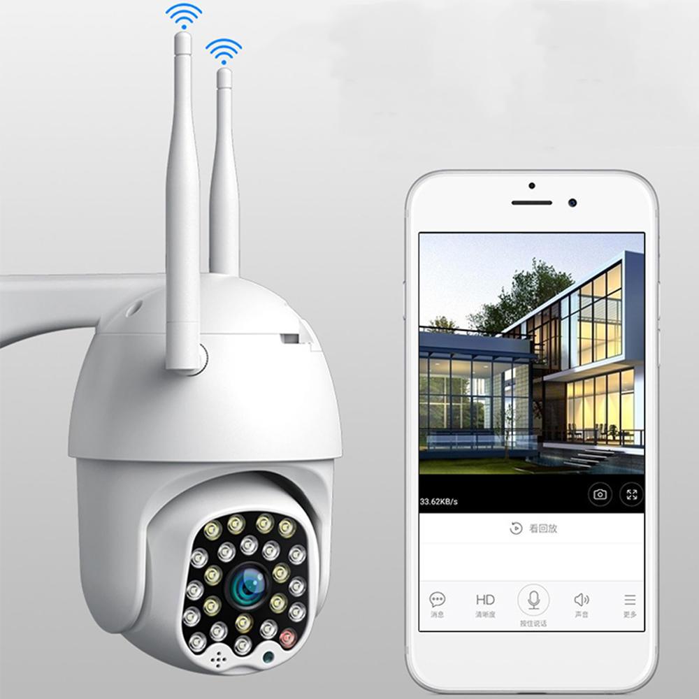 Bakeey 23 LED 5MP 1080P Smart Dome Caméra de surveillance Audio couleur bidirectionnelle Vision nocturne multicolore IP66 Moniteur de sécurité pour la surveillance de la surveillance de la vidéosurveillance automatique CCTV