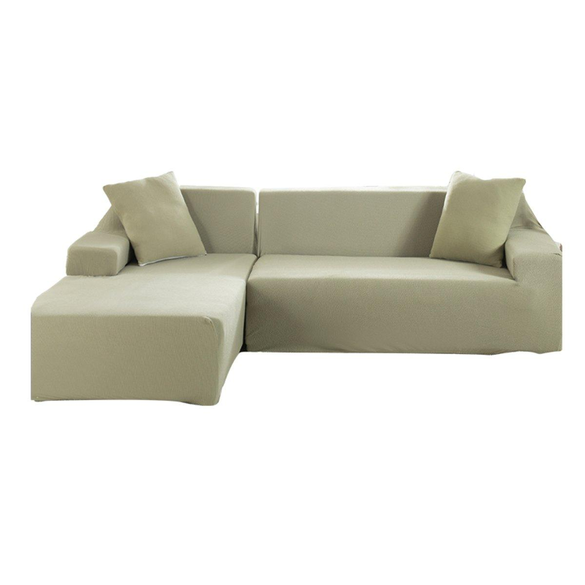 Tremendous 3 Seat L Shape Stretch Elastic Fabric Sofa Covers Elastic Sectional Corner Couch Slipcovers Dailytribune Chair Design For Home Dailytribuneorg