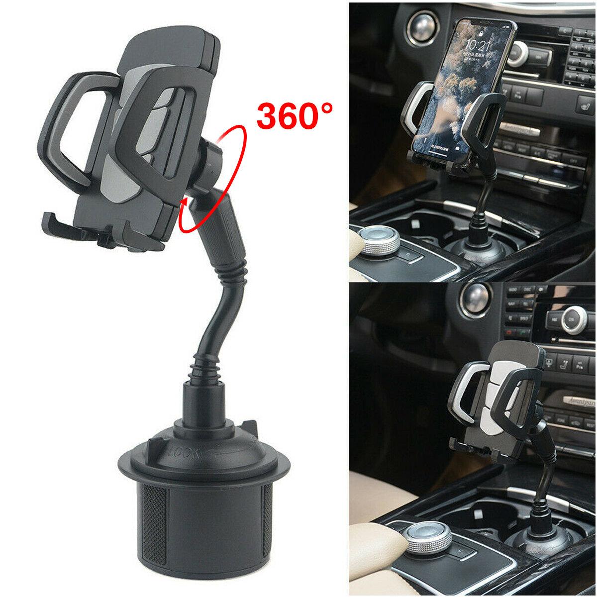 셀룰라 전화를위한 보편적 인 360 ° 조정 가능한 자동차 산 거위 목 모양의 관 컵 자동차 전화 홀더 요람