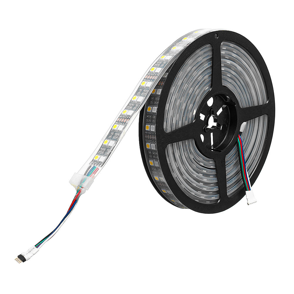 5M SMD5050 IC6803 RGB Remote Control Waterproof LED Strip Light+RF Controller+Power Adapter DC12V - 6