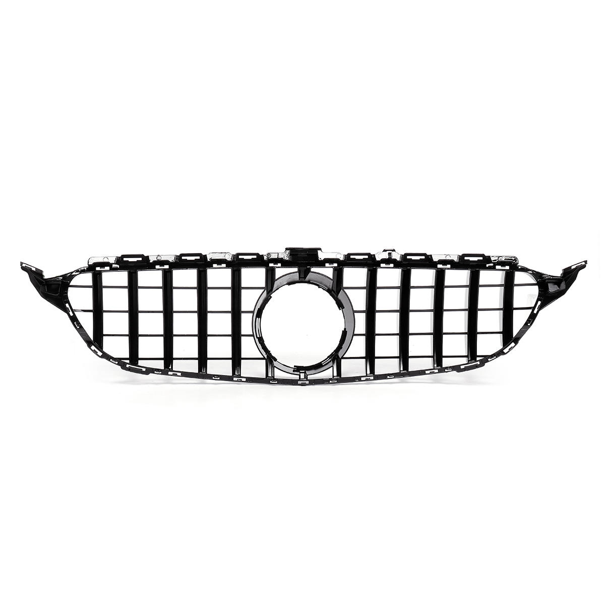 GTR Upper Grille Grey For Mercedes Benz w205 AMG Look C200 C250 C300 C350 Silver 2015-2018