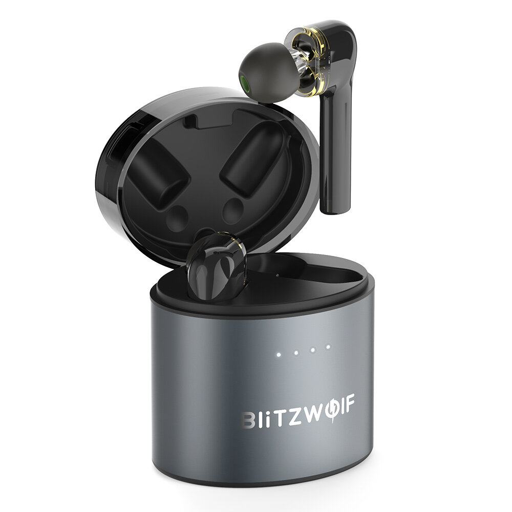 BlitzWolf® BW-FYE8 TWS bluetooth 5.0 Earphone QCC3020 Graphene Dual Dynamic Driver Touch Control Hands-free Headphone