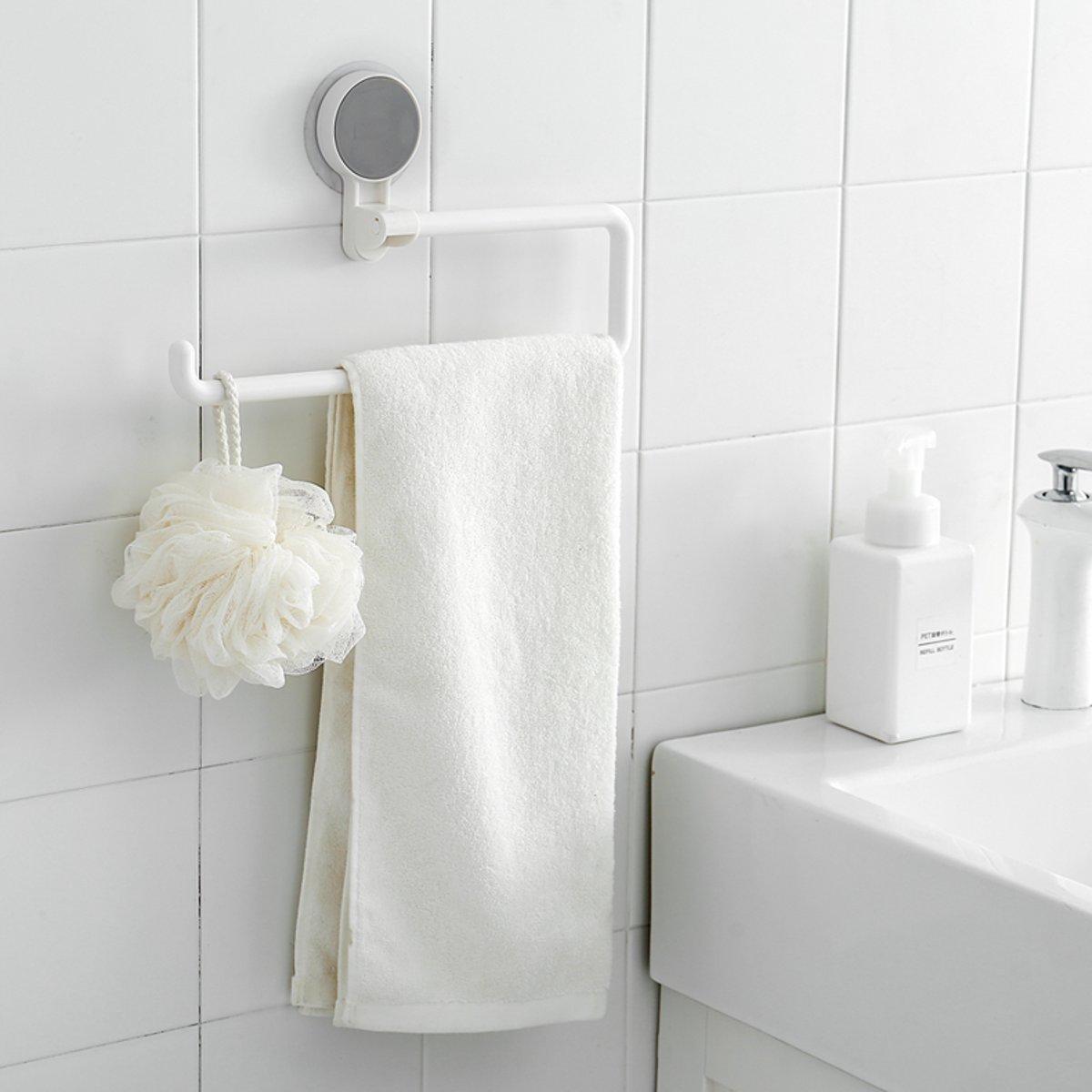 Papierrolhouder Toilet Keuken Tissue Handdoek Organisator Opknoping Plank Rack - 3