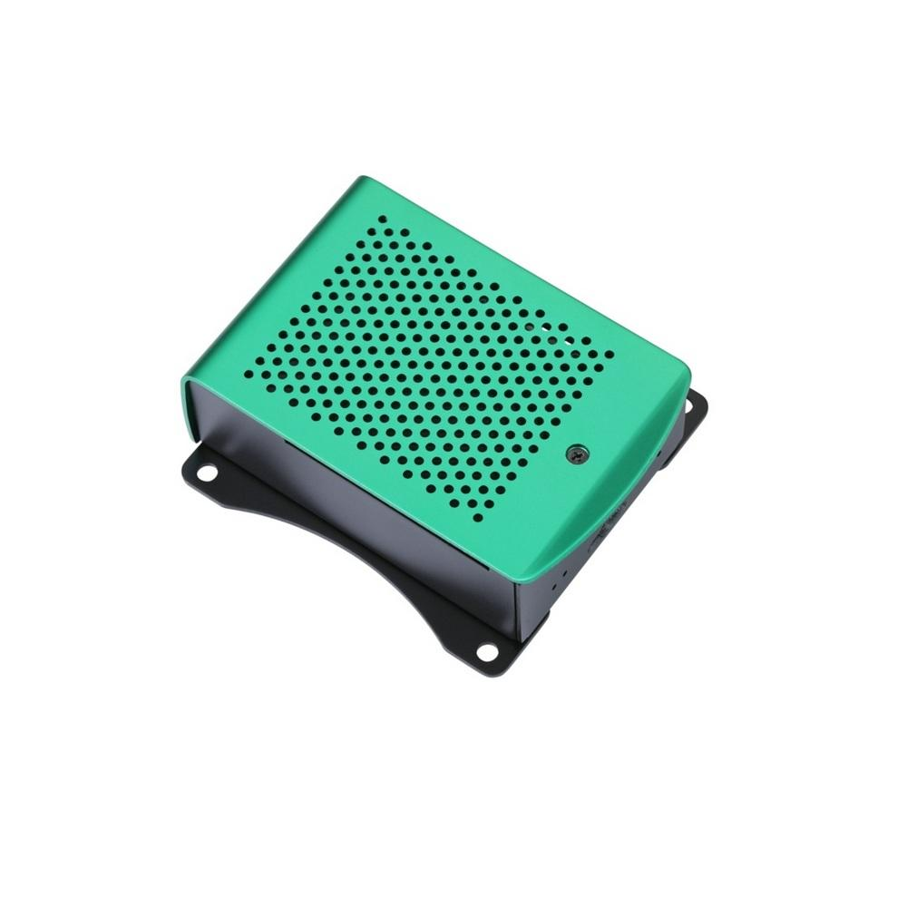 Green Housing Aluminum Alloy Case Dual Mounting Plate Protective Shell Metal Enclosure fit for Raspberry Pi 4 Model B