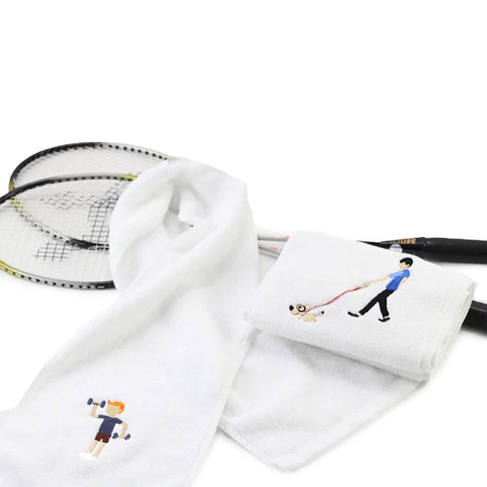 KCASA Cotton Sports Schnelltrocknendes Handtuch Yoga Fitness Handtuch, schweißabsorbierend und schnelltrocknend - 1