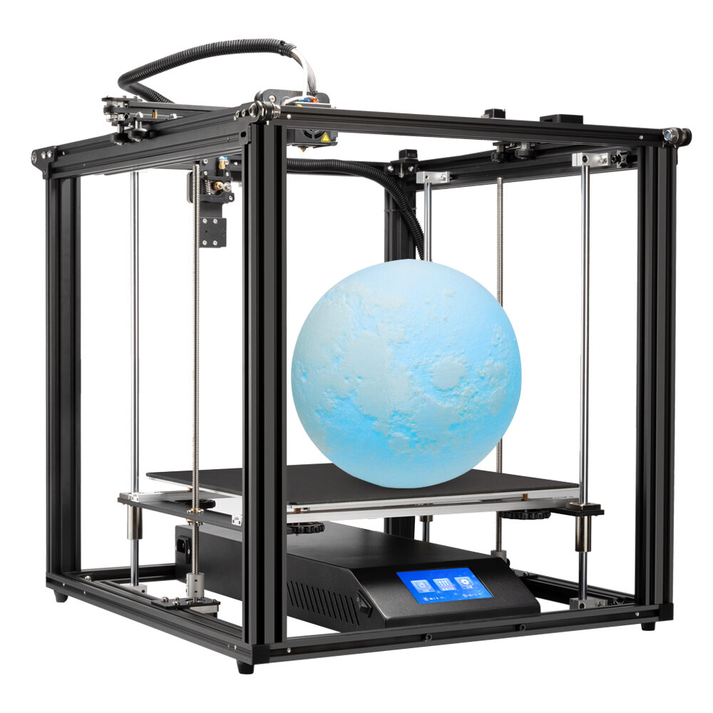 Creality 3D Ender-5 Plus 3D Printer Kit 350*350*400mm Large Print Size Support Auto Bed Leveling/Resume Print/Filament Run-out Detection/Dual Z-Axis/4.3inch Display