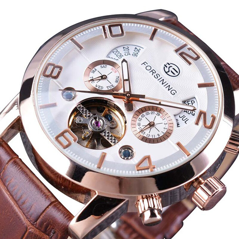 TEVISE T839B Metal Case Automatic Mechanical Watch - 4
