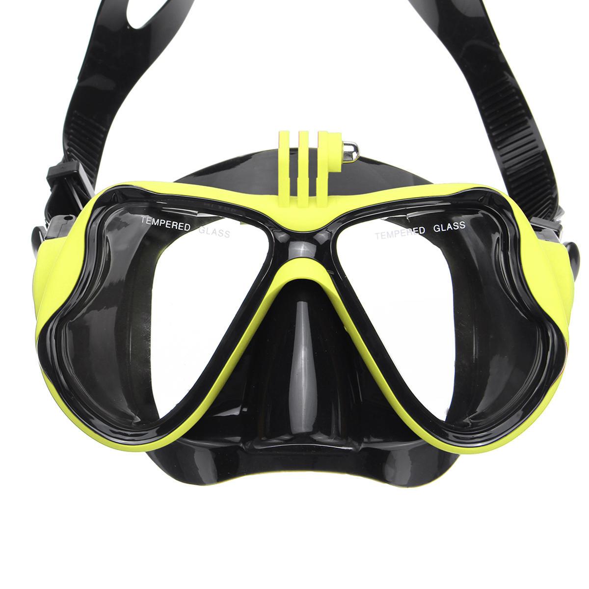 Full Face Diving Mask Snorkel Scuba Swimming Dry Snorkeling Set Free Breath - 4