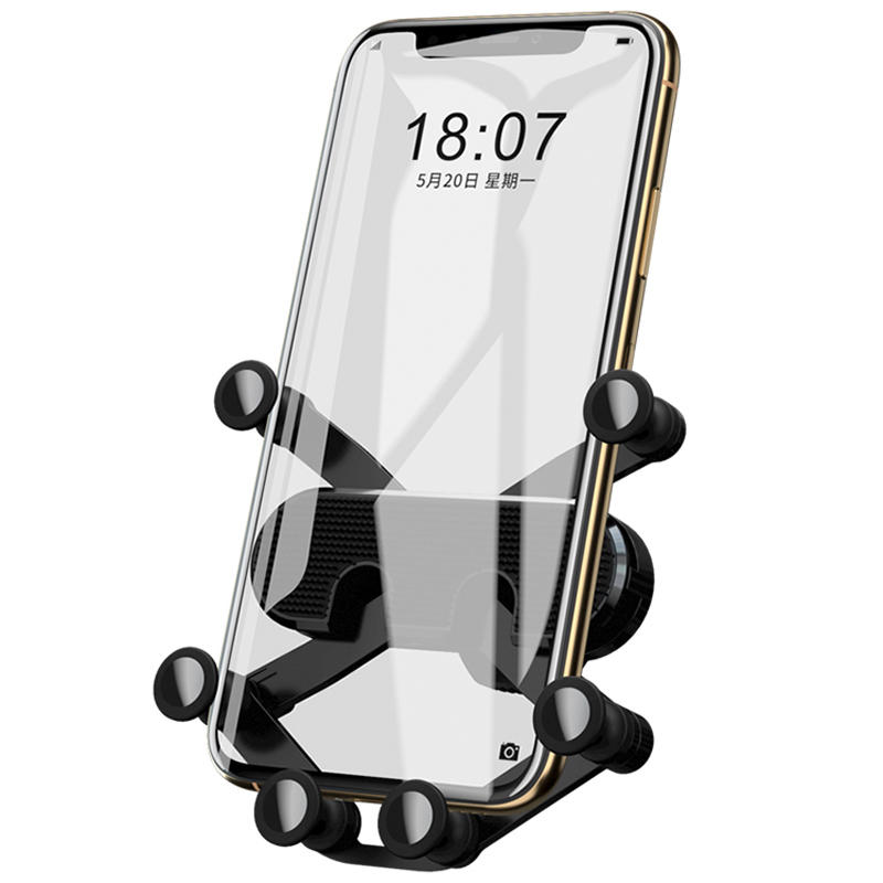 Bakeey Mini Gravity Linkage Automatic Lock Air Vent Car Phone Holder Car Mount For 4.0-6.5 Inch Smart Phone iPhone 11