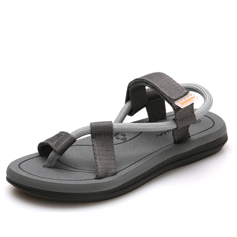 Men Cowhide Spicing Breathable Hollow Out Non-slip Casual Sandals - 9