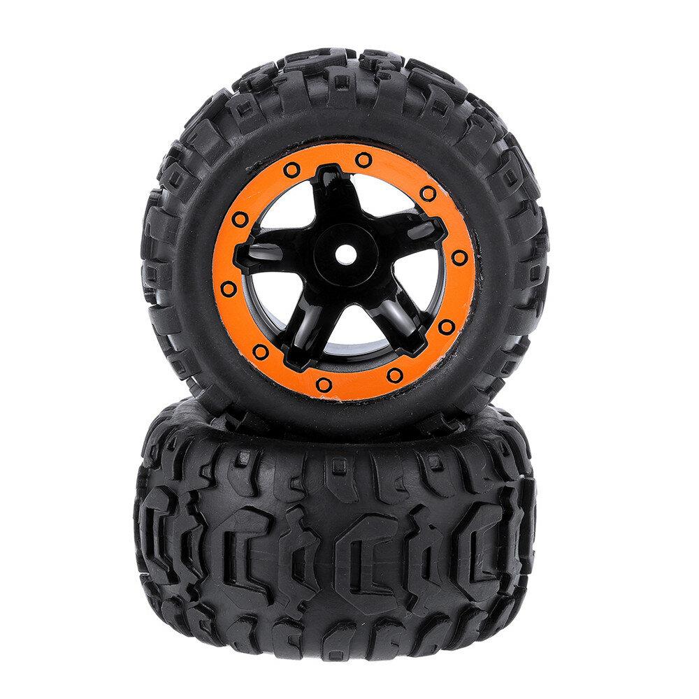 2PCS Tires & Wheels Rims for HBX 16889 1/16 RC Car Vehicles Spare Parts M16038