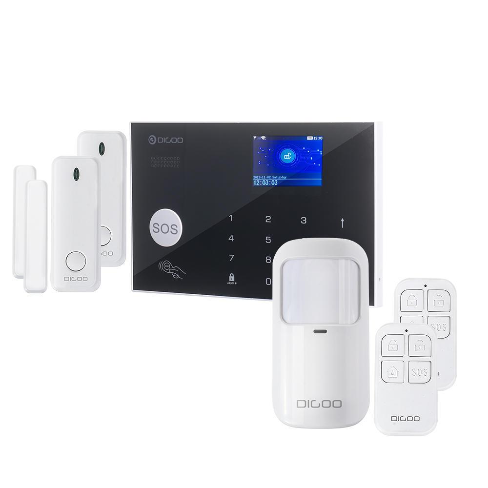 DIGOO DG-ZXG30 433 MHz 2G & GSM & WIFI Sistem Alarm Keamanan Rumah Pintar Pelindung Shell Peringatan dengan APP